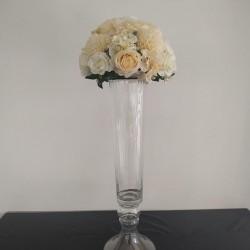 Çiçekli Vazo Şeffaf